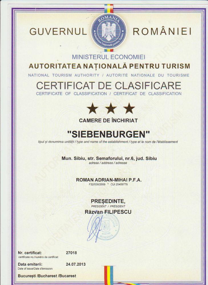 Clasificare apartament sibeburgen