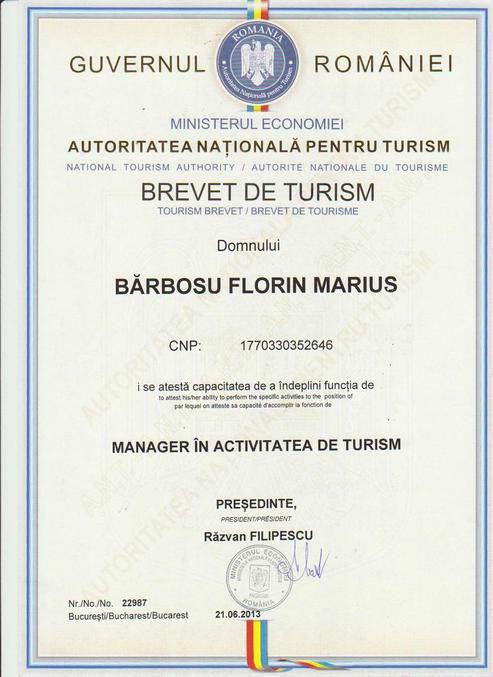 Brevet de turism 2013