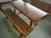 set masa cu banci pentru terasa