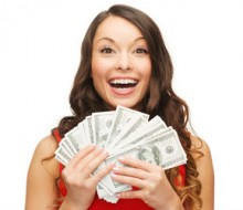 woman-holiday-dress-holding-money