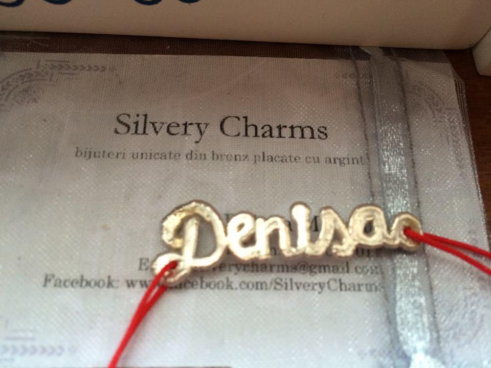 Bijuterii unicate facute pe comanda, placate cu argint si baza din bronz.