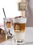 Set  pahare din sticla pentru Latte Macchiato