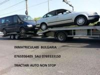 Tractari auto platforma slep non stop inmatriculari Bulgaria asigurari