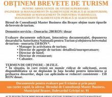 Afis Brevet Absolventi de Turism