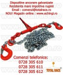 Sistem lant de ancorare galvanizat 10 mm 6,3 tone