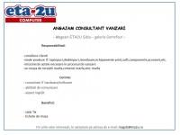 Consultant Vanzari ETA2U