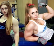 Bodybuilder Julia Vins