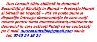 Servicii Protectia Muncii,SSM,PSI,Situatii de Urgenta,Contabilitate