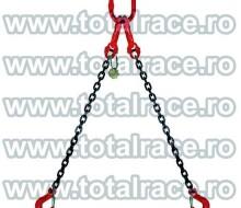 Dispozitive de ridicare din lant cu 2 brate cu carlige rotative cu siguranta